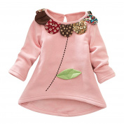 Voberry Toddler Kids Girls Long Sleeves Cartoon Flower Long Sleeve Tops Blouse Pullover Clothes Children Autumn Winter Blouse