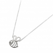 Tata Gisele© Necklace 925/000 Rhodium-Plated Silver – Bee Design 38 cm