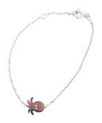 Tata Gisele© Children's Bracelet in Rhodium-plated 925/000 Silver Octopus Octopus Design – 16 cm