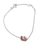 Tata Gisele© Children's Bracelet in Rhodium-plated 925/000 Silver Snail Design – 16 cm