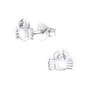 Tata Gisele© Earrings 925/000 Rhodium-Plated Silver Crab – 7 x 6 mm