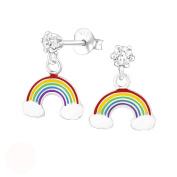 Tata Gisele on Transparent Epoxy Earrings 925/000 Silver, Crystal – Rainbow – Rainbow