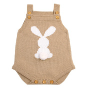 Newborn Baby Boys Girls Strap Buttons Solid Rompers Jumpsuit Outfits