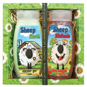 SHEEP - KID'S GIFT PACK -MELON SHOWER GEL 250 ml + STRAWBERRY SHAMPOO 250 ml - Original Pure Natural Cosmetics