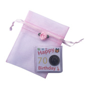 Happy 70th Birthday Gift - Lucky Sixpence in Organza Bag Keepsake // Great Present