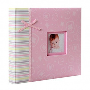 Clear Baby Pink Photo Album 48 Photos 10 x 15 cm
