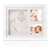 Baby Handprint and Footprint Kit for Boys and Girls, High Quality For Wonderful Memories Dulcii Clay and Wood Frame, Birth Party Cool and Unique Gift for the Record