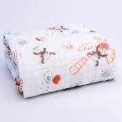 Binztec Muslin Cotton Warm Baby Bath Towels Animal Printing Natural Antibacterial soft Comfortable Healthy Rapid Absorption 105cm*105cm-1pcs