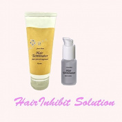 hair terminator lotion+hair growth suppressor- hair perminent remove solution