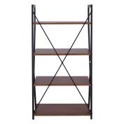 4-Tier Ladder Space-saving Display Bookshelf