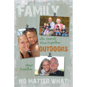 Reflective Art Family Outdoors Picture Frame