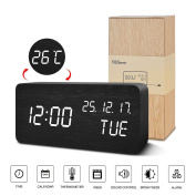 FiBiSonic Digital Clock Large Display Mains Powered Day-Month-Year/ Temperature Desk Gift for Children