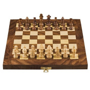 Royal Handicrafts Wood Chess Set with Folding Board and Chess Pieces Handmade