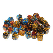 Sharplace 50x Board Game Mixed Colour Dices Die D6 Dot for D & D MTG RPG Gaming Lovers Gift