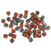 Sharplace 50x Board Game Blue Red Dices Die D6 Dot for D & D MTG RPG Gaming Lovers Gift