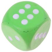 foam dice 7.5 cm green