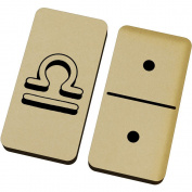 'Libra Symbol' Domino Set & Box