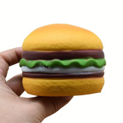 BBsmile-Squishy Heart Hamburger Squishy Scented Slow Rising Exquisite Kid Soft Toy Cellphone Key Chain Charm Pendant Strap Kid Gift