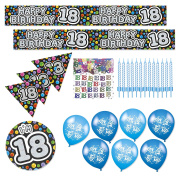 Expression Factory - 18th Birthday Multicoloured Party Decorations Pack