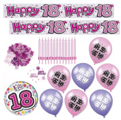 Expression Factory - 18th Birthday Pink Decorations Pack