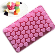 Silicone mould Mini Heart Shape Silicone Ice Cube / Chocolate Mould Pink