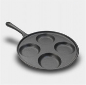 FFJTS Cast Iron Pan Four Holes Fried Egg Pan Omelette Mould - Non-Stick Cooker Gas General