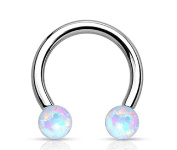 Synthetic Opal WildKlass Horseshoe 316L Surgical Steel Circular Barbell