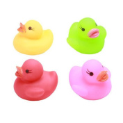 timeracing 1Pc Newborn Baby Bath Time Toy Changing Colour Duck Flashing LED Lamp Light