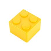 Pu Ran Creative Building Block Shapes Plastic Storage Box Saving Space Superimposed Desktop Handy Organiser for Home Office - Yellow S