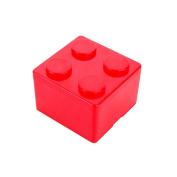 Pu Ran Creative Building Block Shapes Plastic Storage Box Saving Space Superimposed Desktop Handy Organiser for Home Office - Red S