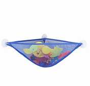 TechSmile Baby Bath Toy Organiser Bathroom Storage Shower Mesh 3 Suctions Hanging Bag Random Colour