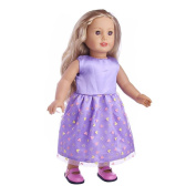 46cm Doll Beautiful Princess Dress, UPXIANG Handmade Lovely Princess Dress Up Costume Outfit for 46cm Our Generation American Girl Doll Toys, Best Birthday Gift for Your Baby