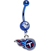 Officially Licenced NFL Anodized Tennessee Titans Logo Dangle Belly Ring