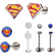 DC Comics 16g Superman Labret Pack