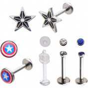 Marvel 16g Captain America Labret Pack