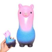 12cm Squishies Rainbow Alpaca Jumbo Slow Rising Soft Sheep Squishies Kawaii Lamb Cream Scented Animal Stress Relief Toy Hop Props Decorative Props