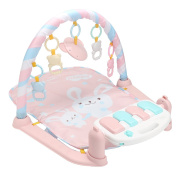 Jeteven Baby Play Mat Pink Activity Play Piano Gym 62x75x42cm