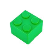 Pu Ran Creative Building Block Shapes Plastic Storage Box Saving Space Superimposed Desktop Handy Organiser for Home Office - Green S