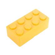 Pu Ran Creative Building Block Shapes Plastic Storage Box Saving Space Superimposed Desktop Handy Organiser for Home Office - Yellow L