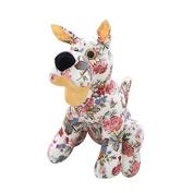 Skyoo Dog Doll Mascot Wearing a Hat Cloth Plush Toys Printing