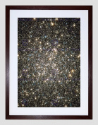 HUBBLE SPACE TELESCOPE IMAGE OF M13'S NUCLEUS BLACK FRAMED ART PRINT B12X2394