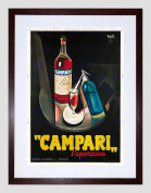 CAMPARI APERITIF 1926 HOME DECO BLACK FRAMED ART PRINT PICTURE B12X6953