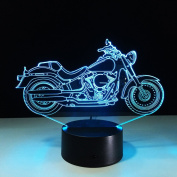 LEDMOMO Motorcycle 3D Night Light,3D Illusion Lamp Visual Effect Night Light with 7 Colours Touch Switch Changes Night Light Home Decoration Gift