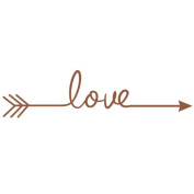 huichang Love Arrow Decal Living Room Bedroom Carving Wall Decal Sticker for Home Decoration