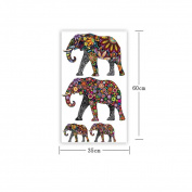 AAA226 Cartoon Elephant Print Art Decoration Decal Wall Stickers for Kids Room