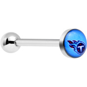 Officially Licenced NFL Stainless Steel Tennessee Titans Logo Barbell Tongue Ring 14 Gauge 1.6cm