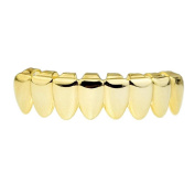 14K Gold Plated Grillz 8 Eight Tooth Lower Bottom Teeth Hip Hop Grills