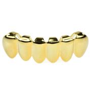 14K Gold Plated Grillz Lower Bottom Plain Teeth Grills