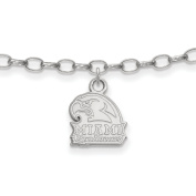 Miami University RedHawks Anklet in Sterling Silver 3.27 gr