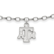 Texas A & M University Aggies Anklet in Sterling Silver 3.20 gr